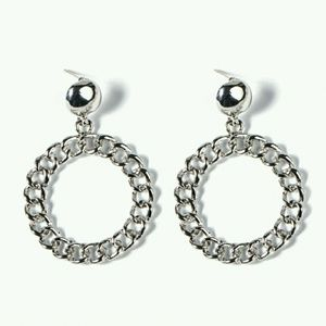Jewelry - Cuban Link Hoop Drop Earrings